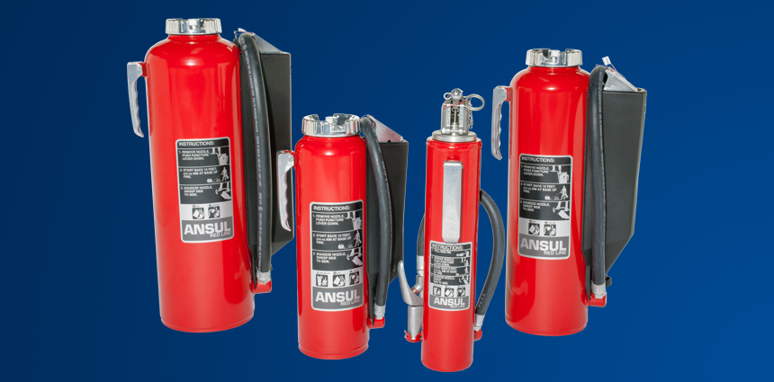 ANSUL® RED LINE Cartridge-Operated Hand Portable Fire Extinguishers