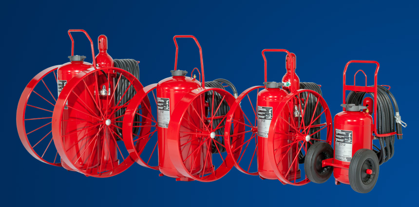 ANSUL® RED LINE Wheeled Fire Extinguishers